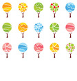 Set abstract trees -seasons vector image vector image
