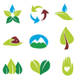 eco nature logos vector image vector image