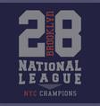 brooklyn national league vector image
