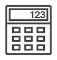 calculator line icon business and mathematics vector image