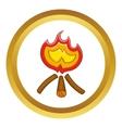 Campfire icon vector image