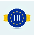 European union badge vector image