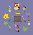 Garden Icons Set vector image