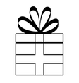 Gift icon celebration and party design vector image