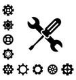service tools icons vector image