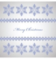 Snowflakes for Christmas vector image