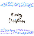 string blue garland and lettering isolated on whit vector image