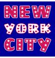 t-shirt NY city vector image