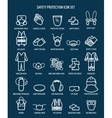 Work health and occupational safety icons vector image