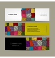 Business cards with floral girl for your design vector image
