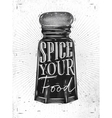 Poster pepper castor spice vector image vector image