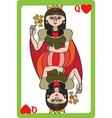 queen hearts vector image