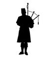 Scottish Piper vector image