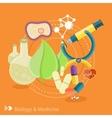 Biology and medicine vector image