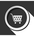 icon - shopping cart with shadow vector image