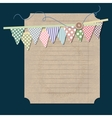 Vintage background with old paper vector image vector image