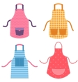 colorful apron set vector image