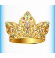 royal golden crown vector image