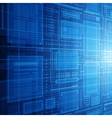 Abstract technology database vector image