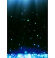 Blue dark bokeh abstract light background vector image