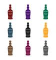 bottle of scottish whiskey icon in black style vector image