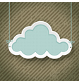 Cloud as retro sign vector image