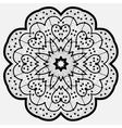Mandala Round Ornament Pattern in Black Color vector image