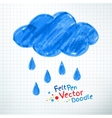 Rainy cloud vector image