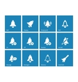 Ringing icons on blue background vector image