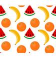seamless background fruit watermelon banana vector image