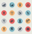 set of simple winner icons vector image