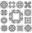 Set of vintage geometric ornaments vector image