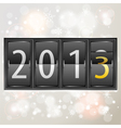 New Year 2013 on Mechanical Timetable vector image