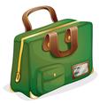 a green bag vector image vector image