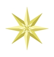 Eight-pointed Star in Flat Design vector image