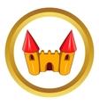 Fairy tale castle icon vector image