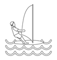 Windsurfer icon simple style vector image