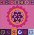 flower of life seed ornamental design vector image vector image