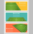 Set of Football field graphic background 2 vector image