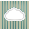 cloud retro background vector image vector image