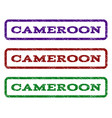 cameroon watermark stamp vector image