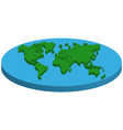 map of flat earth concept flat earth vector image