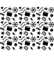 Seamless black and white cinema pattern vector image
