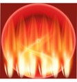 Abstract flames and firework sphere vector image