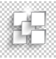 white squares vector image vector image