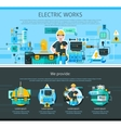 Electrician One Page Design vector image