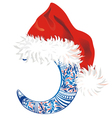 Background with Christmas hat vector image