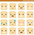 bread emoticons vector image