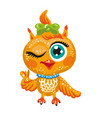 cute owl cartoon character vector image