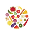 foods in circle vector image